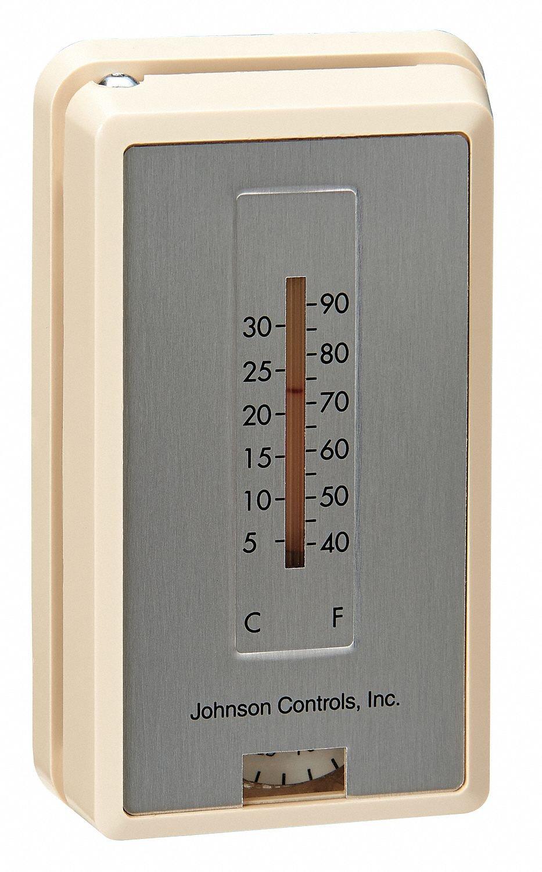 Johnson Controls T-4100-2 Pneumatic Thermostat, RA, 13 to 25 psi