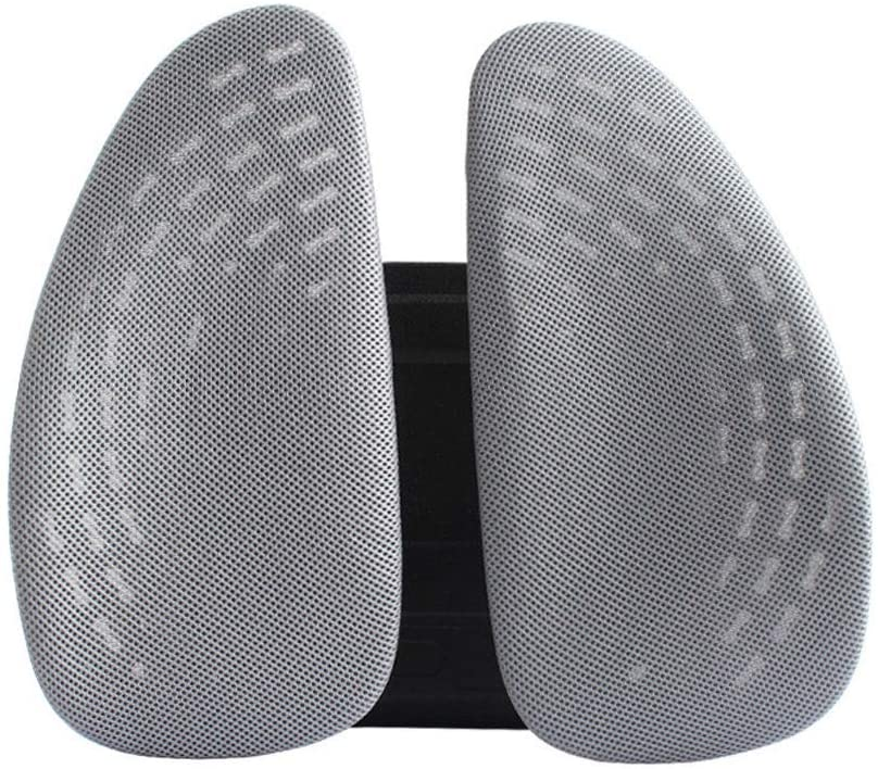 AWZSDF Car Lumbar Office Chair or Car Seat Lumbar Support, Adjustable Backrest 3D Mesh Breathable Ergonomic Back Support Lumbar Pillow for Computer/Office Chair, Car Seat, etc,B