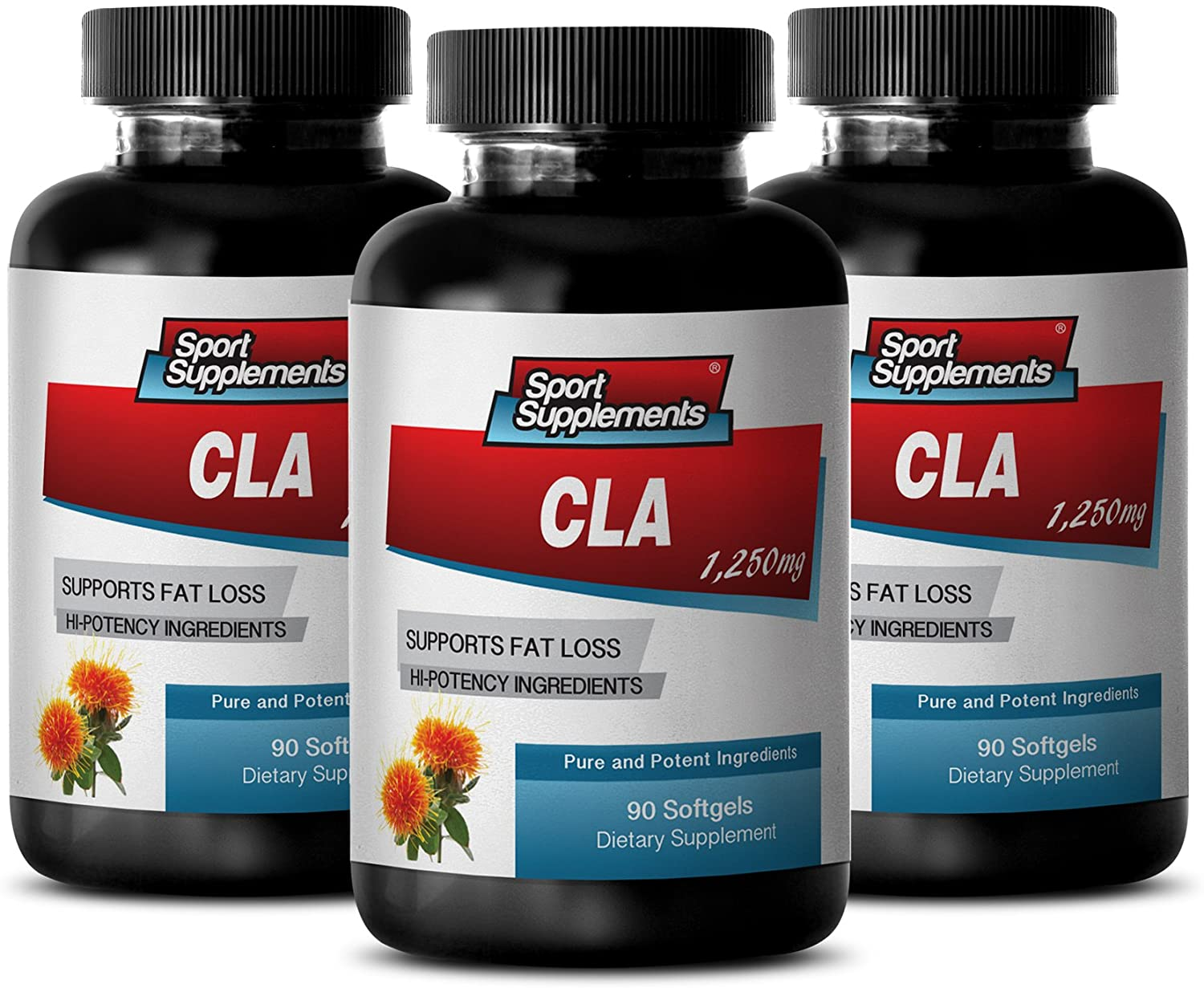 Weight Loss Items - CLA 1250 MG - CONJUGATED LINOLEIC ACIDS - Weight Loss and Fat Burner - Fatty ACIDS - cla high Potency - 3 Bottles (270 Softgels)