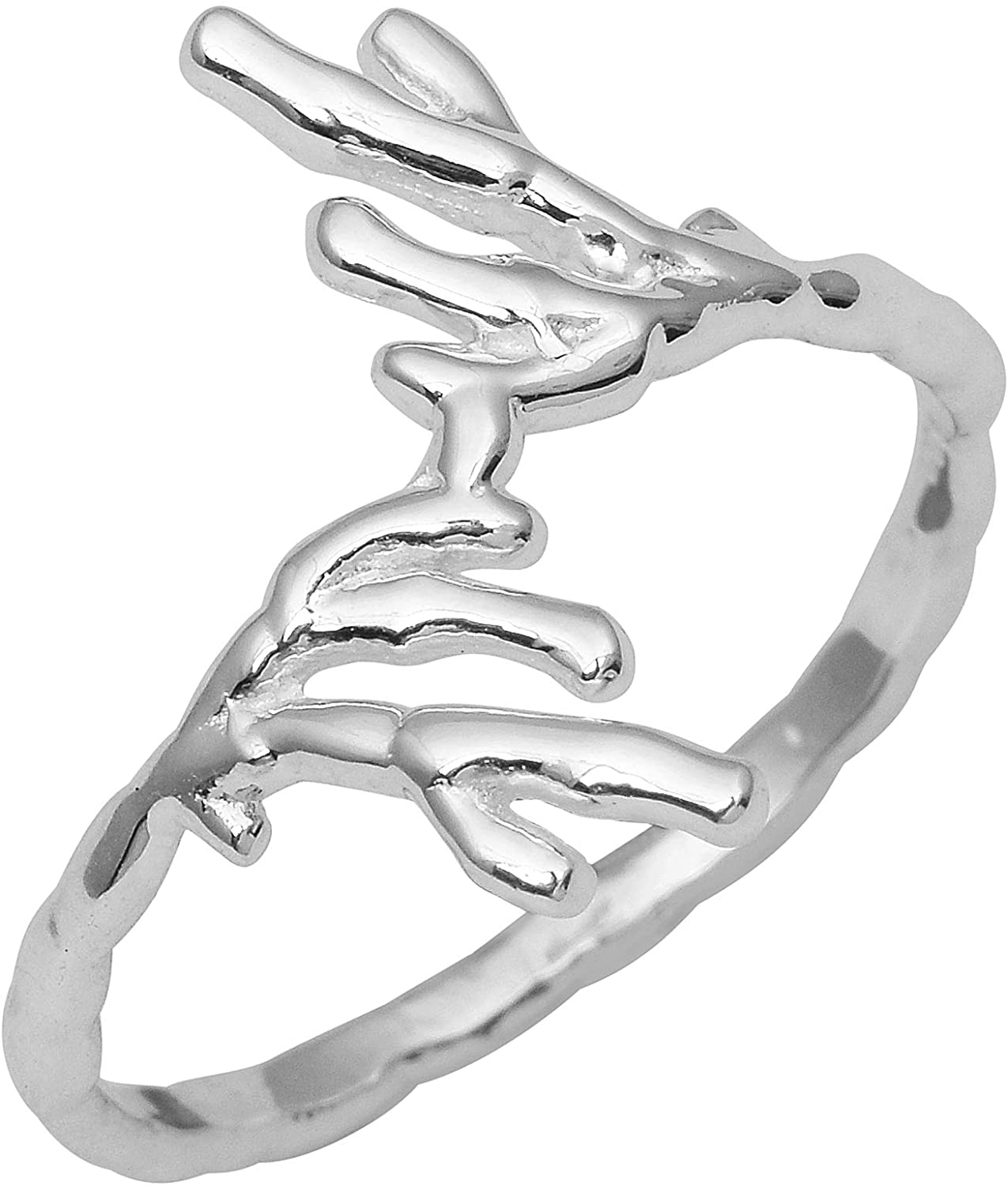 Solid 925 Sterling Silver Friendship Promise Stacking Ring