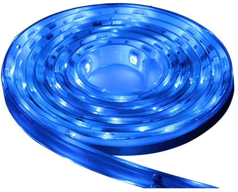 Lunasea Flexible Strip LED - 5M w/Connector - Blue - 12V