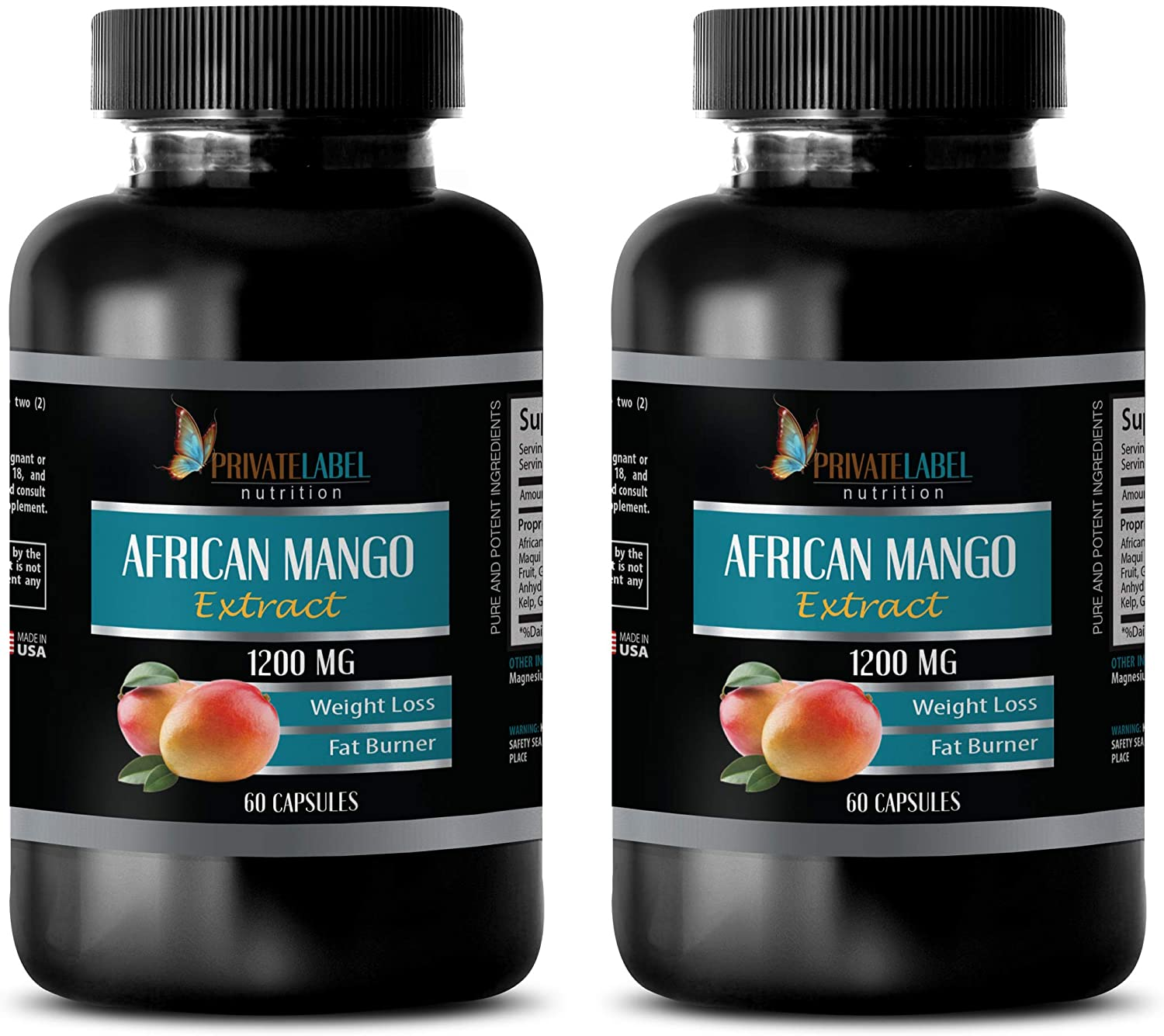Weight Burner for Women - African Mango Extract 1200 MG - African Mango and Green Tea Extract - 2 Bottles (120 Capsules)