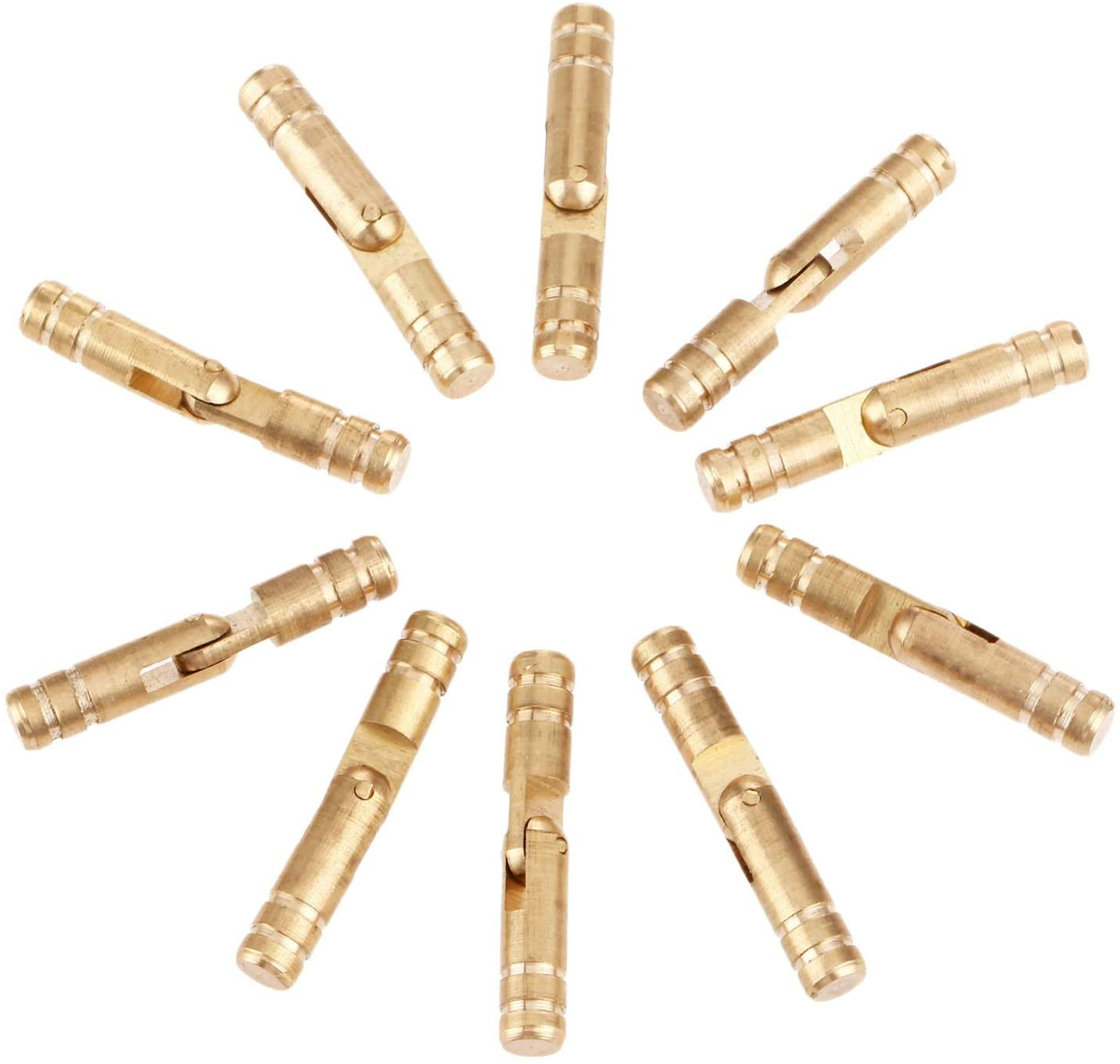 Cabinet Hinges 10Pcs 30x5mm Pure Copper Brass Conceal Hinges Jewelry Box Hidden Invisible Barrel Hinge for Furniture Finely Machined Mechanisms