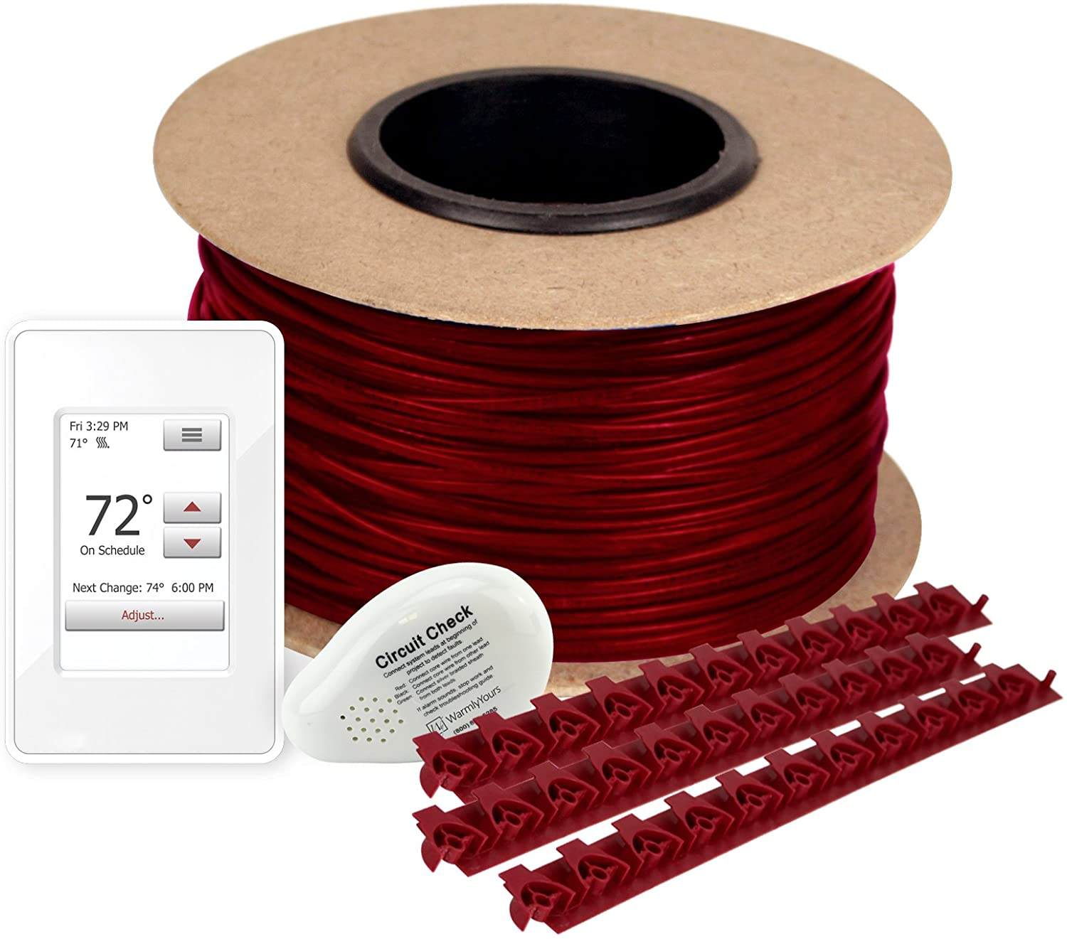 WarmlyYours TCT120-KIT-OT-070 Tempzone Electric Floor Heating Cable Kit with Strips, 70 ft. (17.5 sq. ft.)