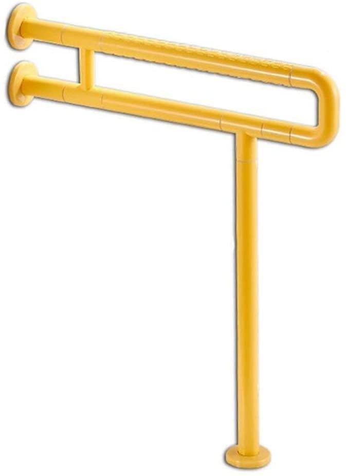 HTL Sicherheits Haltegriff Bathroom Handrail, 60Cm70Cm Two Colors U-Shaped Stainless Steel Non-Slip Safety Handle Disabled Elderly Barrier-Free Bathroom Shower,Yellow