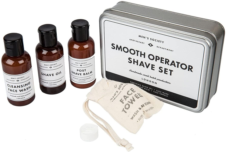 Men's Society Smooth Operator Shaving Kit in a Tin