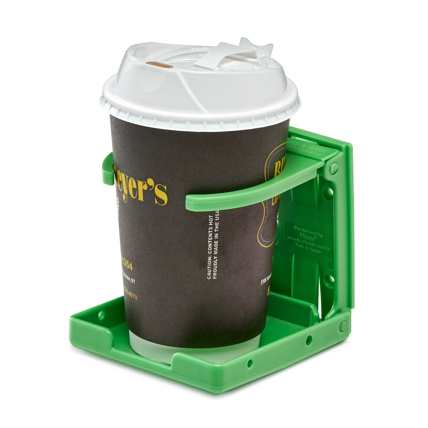 AdirMed Universal Drinking Cup Holder - for Any Kind of Strollers, Walkers, Bicycles, Wheelchairs, Rollator, Cane & Crutch (Green)