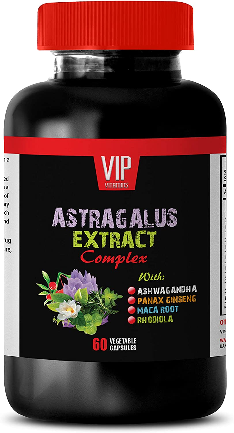 Stress and Anxiety Relief - Sleep aid - Astragalus Extract Complex - Astragalus Root - 1 Bottle (60 Capsules)