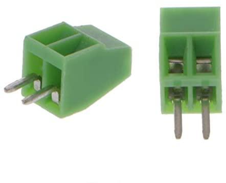 Onvas New 10pcs PCB Universal Screw Terminal Blocks Connector 2.54MM Pitch PCB Mount Screws 2Pin-10Pin - (Pins: 6P)