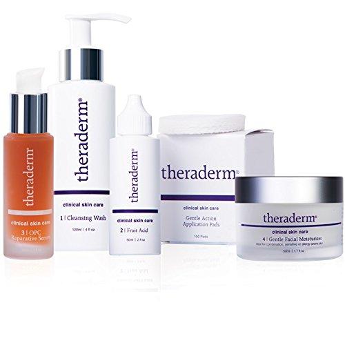 Theraderm Skin Renewal System with Gentle Moisturizer - Daily skin maintenance regimen - 3-month supply