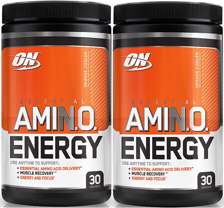 Optimum Nutrition Essential Amino Energy, Pack of Two 30 Servings (Orange Cooler 2 x 30 Servings)