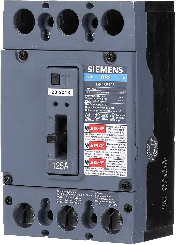 Siemens US2:QR23B125 Molded Case Circuit Breaker, Color