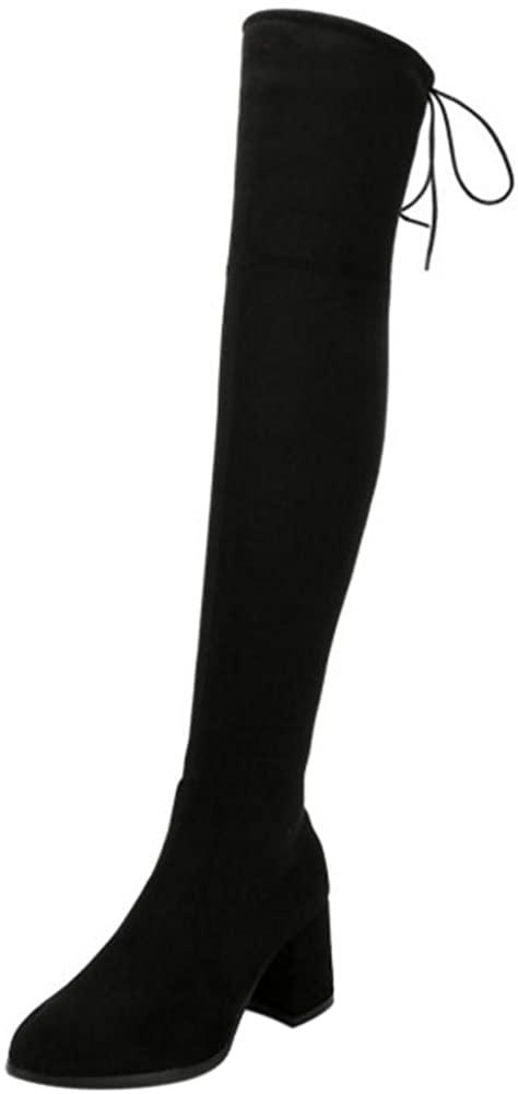 RizaBina Women Boots Zipper Over Knee