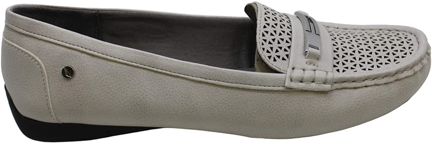 LifeStride Womens Vienna 2 Leather Closed Toe Loafers