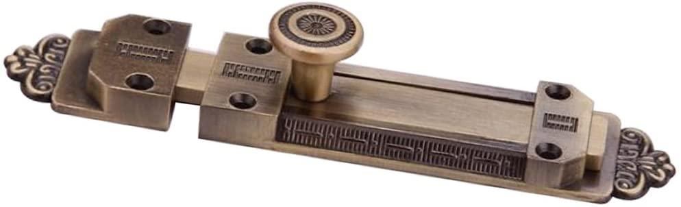 Eforlike 1 Piece Zinc Alloy Antique Door Window Latch Security Sliding Bolt Lock (Overall Length of Bolt & Keep: 141mm/5.55