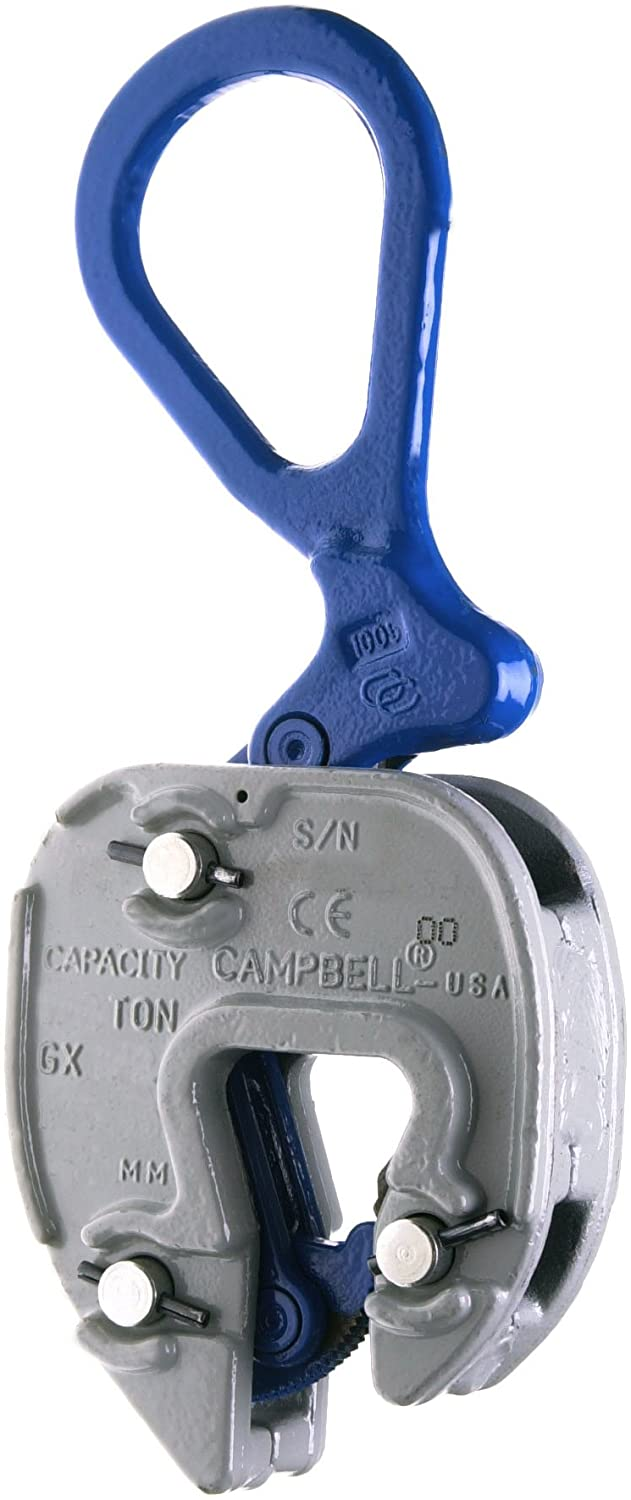 Campbell 6423925 Vertical and Horizontal to Vertical GX Plate Lifting Clamp, 1