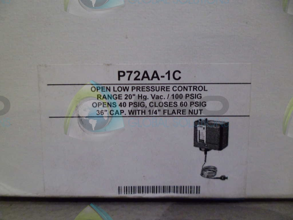 Johnson Controls P72AA-1C Penn Series P72 Standard Electromechanical Pressure Control, Open Low DPST Switch, 20