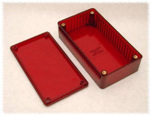 Hammond Manufacturing 1591ATRD 1591A TRANSP RED