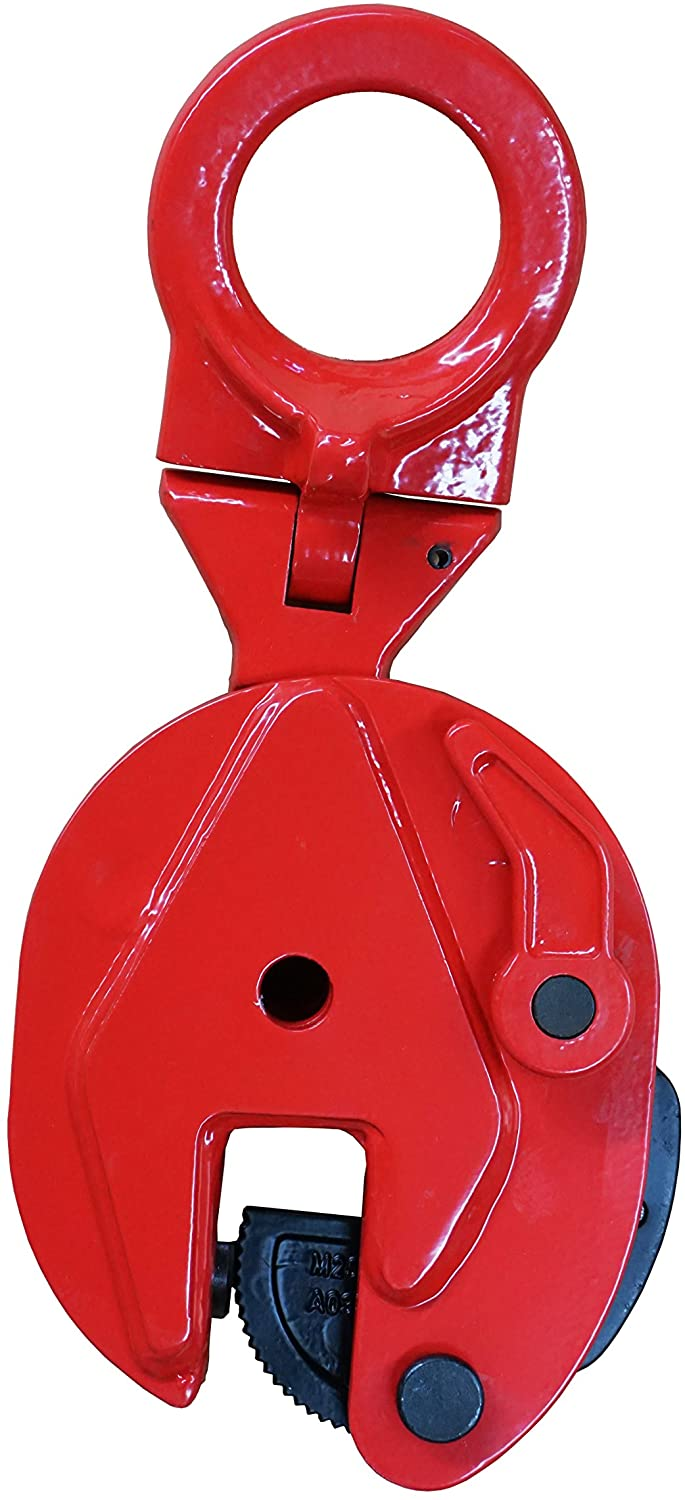 Pake Handling Tools Universal Vertical Plate Clamp - Heavy Duty Durable Lifting Clamp 4400 lb (2 Ton) Working Load Limit (WLL)