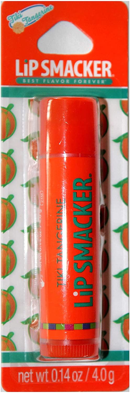 Lip Smackers (1) Lip Balm Stick Best Flavor Forever - Tiki Tangerine Flavor - Orange Tube with Orange Label - Carded - Net Wt. 0.14 oz
