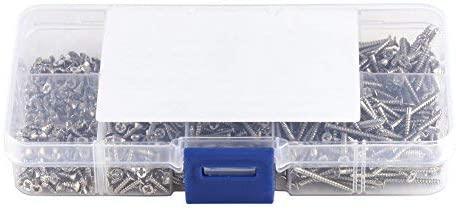 800pcs / set M2 Cross Drive Screws Flat Head Self-tapping Screw Kit Carpentry Holder with Box (