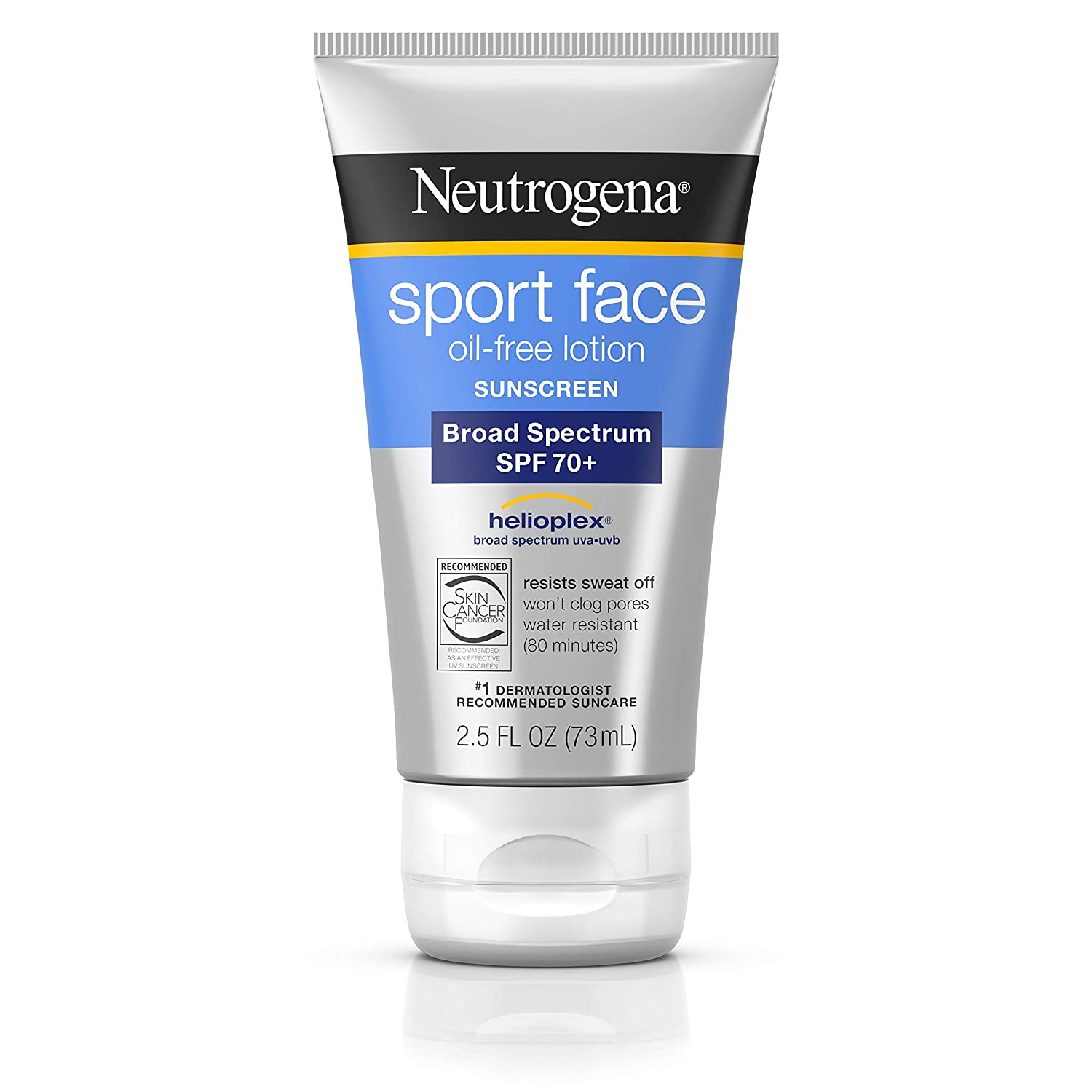 Neutrogena Sport Face Sunscreen Lotion SPF 70+ 2.50 oz
