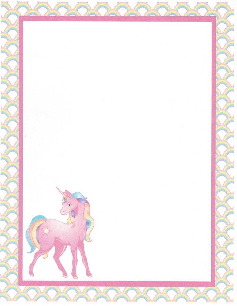 Pink Unicorn Stationery Printer Paper 26 Sheets