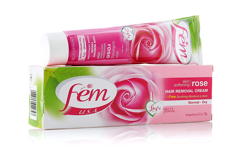 Fem Hair Removal Cream - Rose 120gm [For Normal & Dry skin]