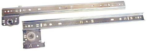 Knape & Vogt 12in Side Drawer Guide Zinc Plated Steel
