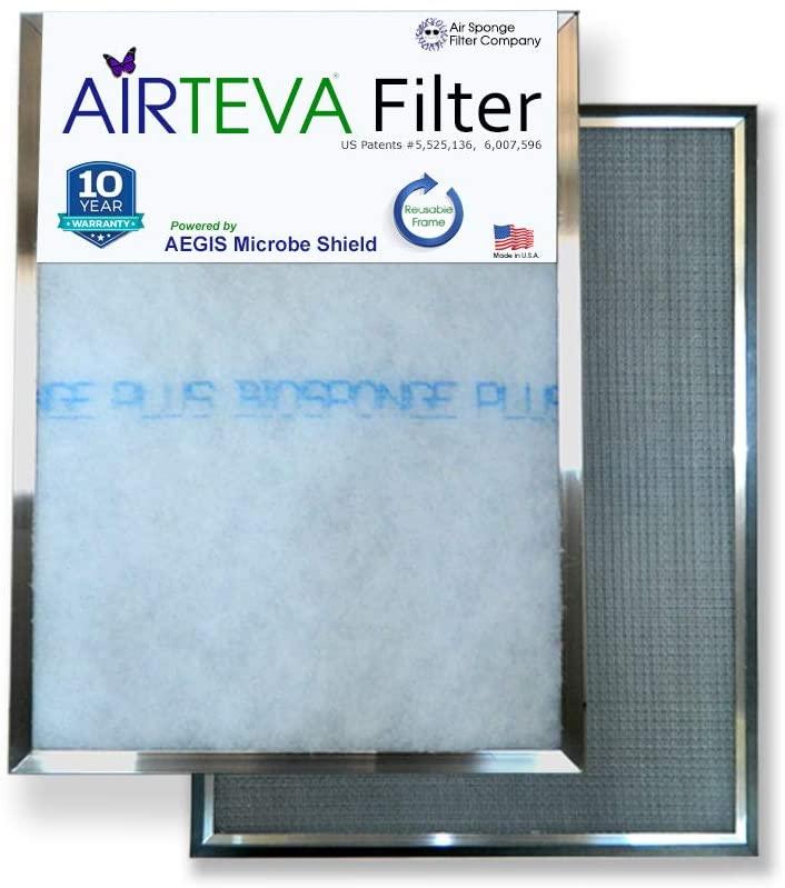 AIRTEVA 19 3/4 x 19 3/4 AC filter / Furnace filter with (1) BioSponge Plus Replacement