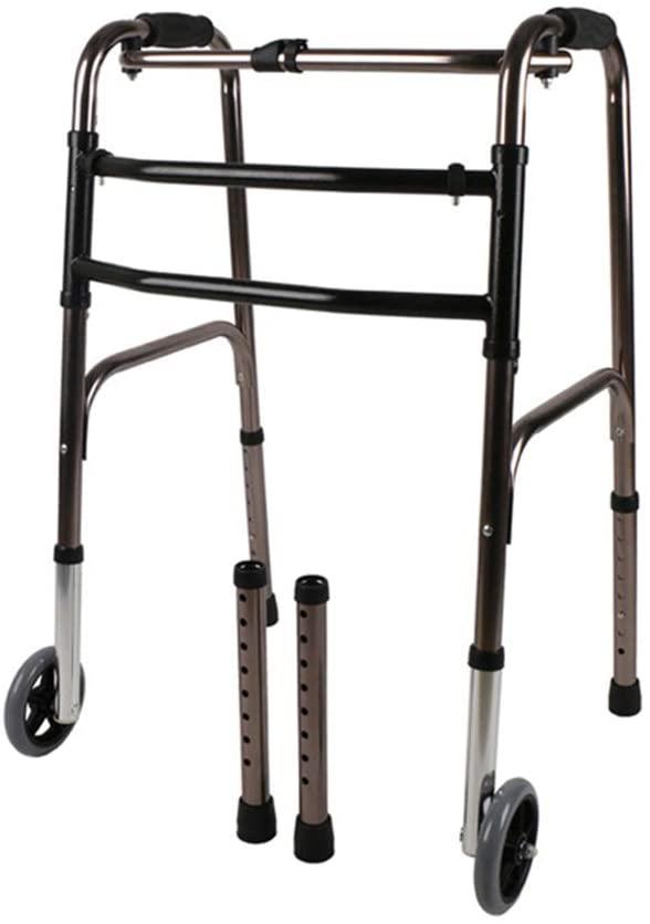 SSLW Wheel Walker Walking Frame Folding Mobility Walk Aid Elderly Disabled Transfer Assistance