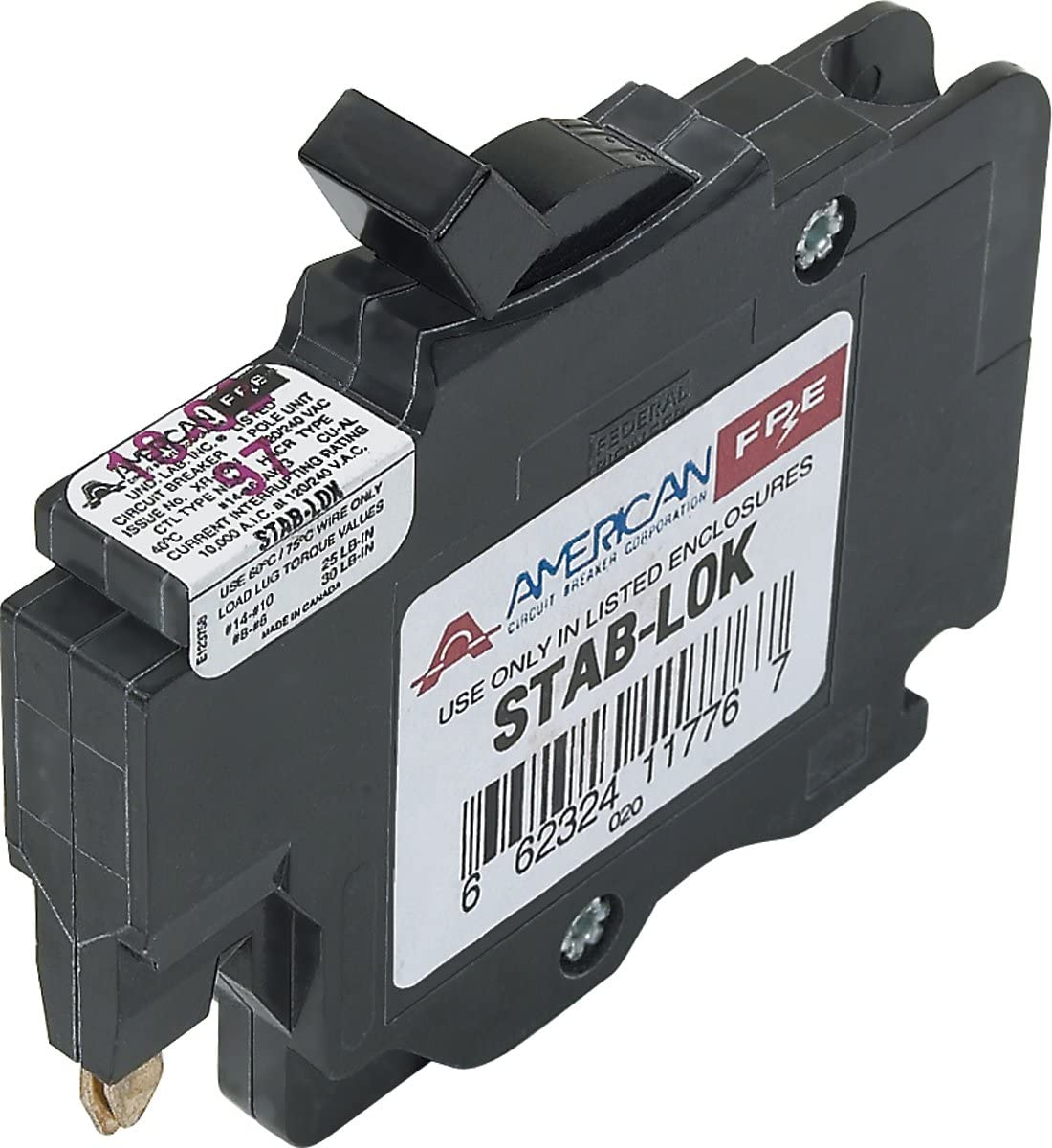 American/Federal Pacific Circuit Breaker, 1-Pole 30-Amp Thin Series