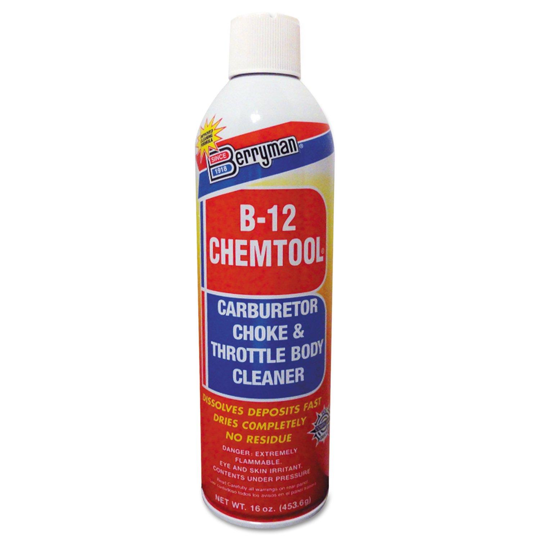 Berryman 0117C B-12 CHEMTOOL Carburetor/Choke Cleaners, 16 oz. Aerosol Can, Clear (Pack of 12)