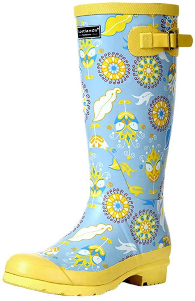 Insun Women's High Rain Boots for Women Rubber