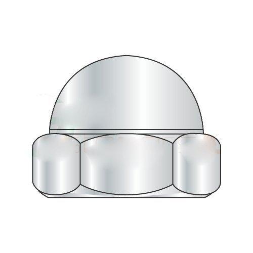5/16-18 Closed End Acorn Nuts/Low Crown/Steel/Nickel (Carton: 1,000 pcs)