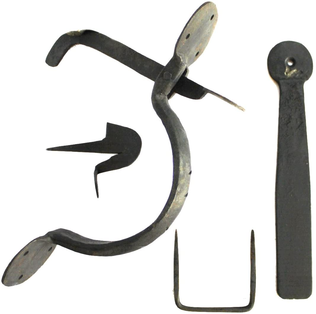 Colonial Wrought Iron Bean Thumb Latch Set Hand Made Door Hardware fr Restoration