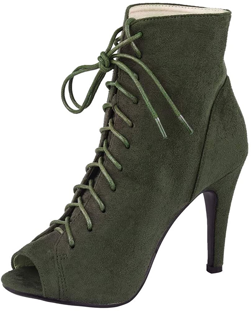 getmorebeauty Womens Stiletto High Heel Martin Boots Sexy Mid-Calf Sexy Boots