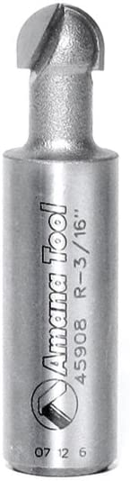 Amana Tool - 45908 Carbide Tipped Core Box 3/16 Radius x 3/8 Dia x 1/4 x 1/2