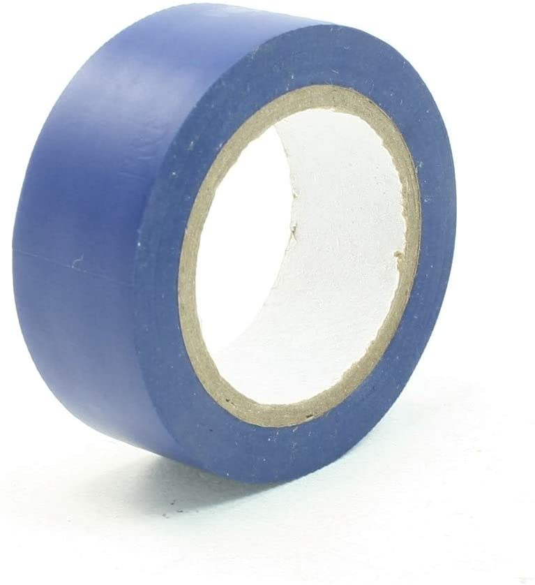 New Lon0167 PVC Electrical Featured Wire Insulating Tape Reliable Efficacy Roll Blue (Delivery Within 15-25 Days) 10M Long 17.5mm Wide(id:deb 86 16 d80)