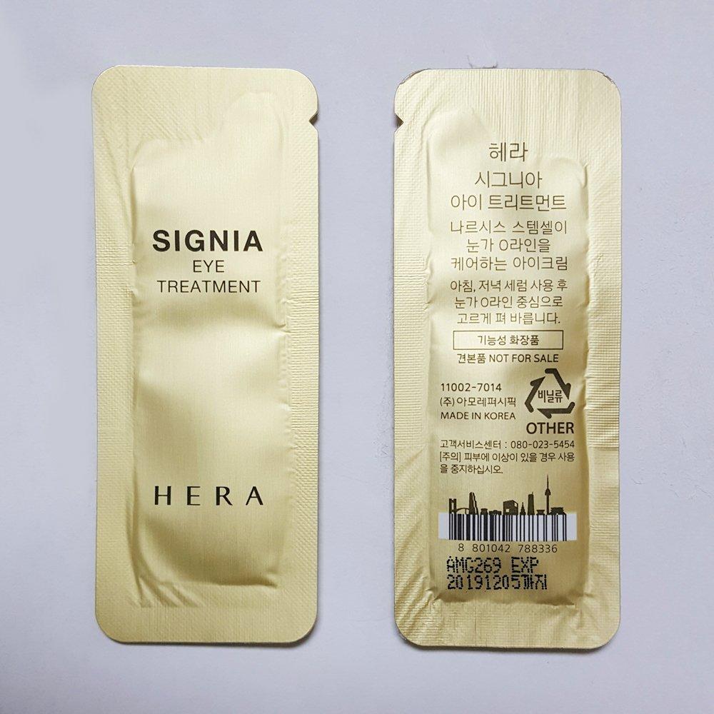 HERA Signia Eye Treatment 1ml x 100pcs (100ml) Sample AMORE PACIFIC (Gift Ginseng Serum 5ml x 1pcs)