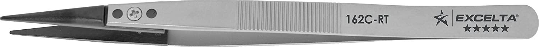 Excelta - 162C-RT - Tweezers - Replaceable Tip - Straight - Five Star - Peek Tips, 0.06