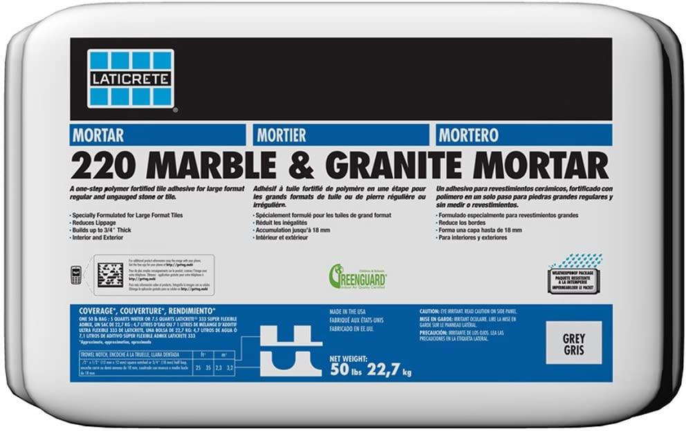 LATICRETE 220 MARBLE AND GRANITE MORTAR WHITE