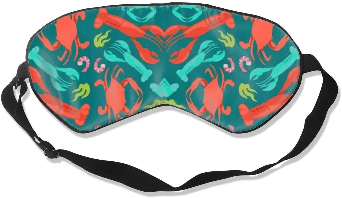 Lobster Crab Shrimp Women Men Eye Shade Cover for Sleeping,Eye Mask for Night Sleep