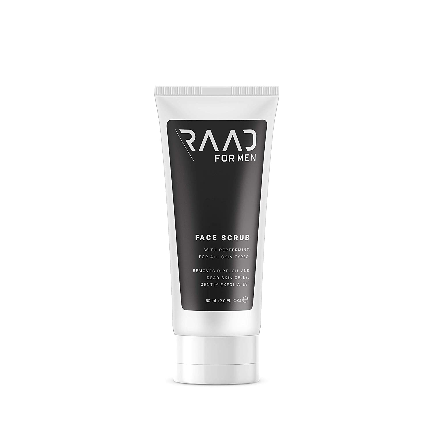 RAAD For Men - Face Scrub and Exfoliator for Men, Formulated with Peppermint and Jojoba Beads, Natural Ingredients