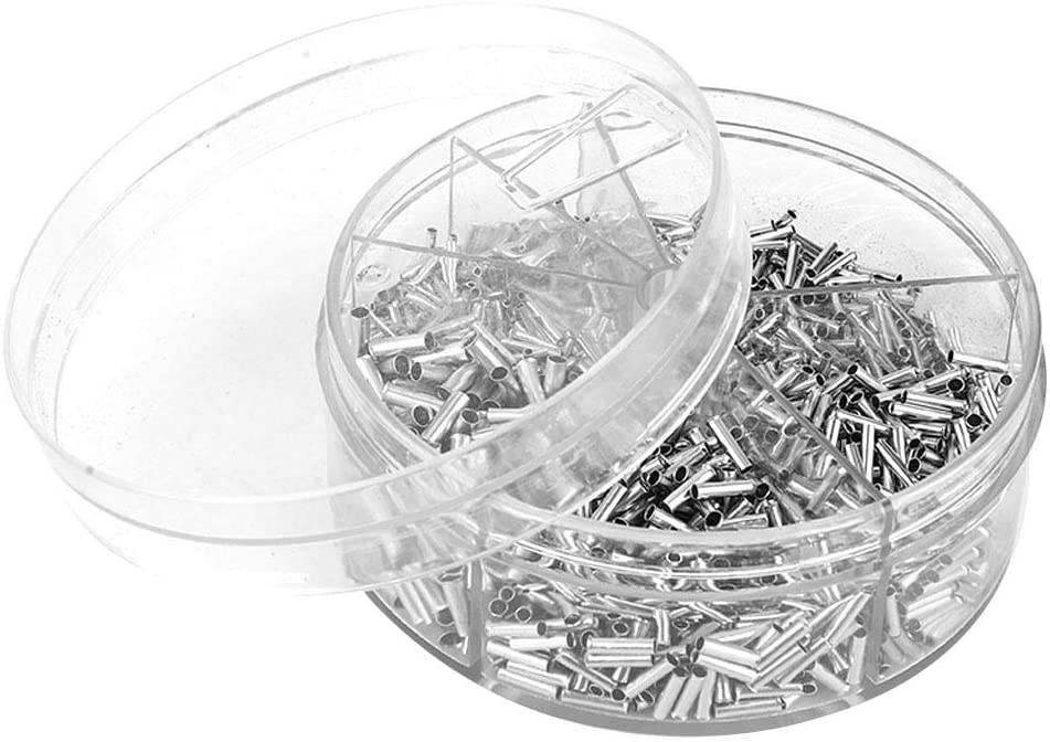 1900pcs Butt Connector Rolled & Non-insulated Terminal Splice Wire Butt Connector Kit