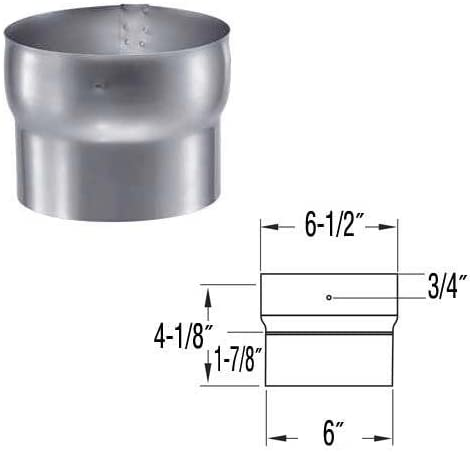DuraVent 6DFS-FC 6 SS Connector - Joins Stainless Steel Flex Length to Rigid or other Flex Lengths