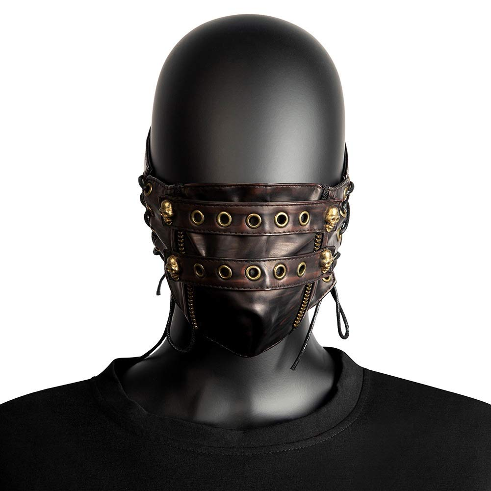 ZHANGBBB Halloween steampunk anime mask (Color : Brown)
