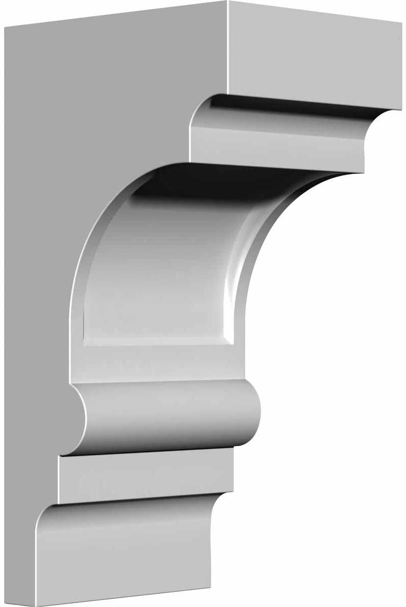 Ekena Millwork BKT03X04X08DI-CASE-4 3 1/2 inch W x 4 1/4 inch D x 8 inch H Diane Bracket (4-Pack),