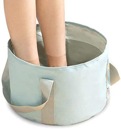 YOFAN Foldable Washing Basin, Portable Travel Outdoor Collapsible Bucket Foot Soak Bucket Heat Preservation Waterproof (Blue)