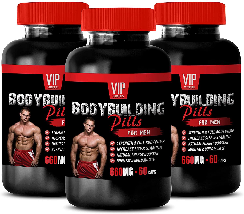 Bodybuilding Supplements Testosterone - Bodybuilding Pills for Men - zinc Supplements for Men - 3 Bottles 180 Capsules